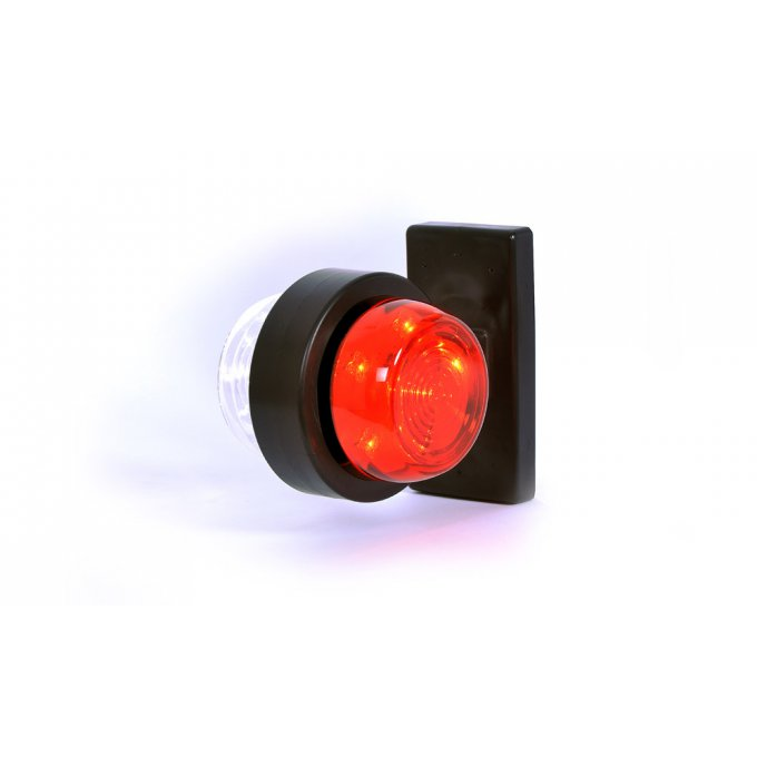 Feu de position a Led rouge/blanc 544