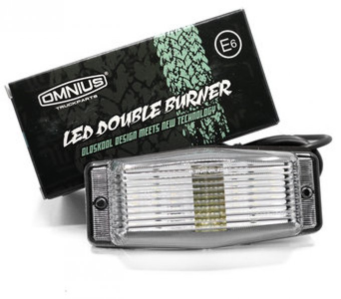 Feu double ampoule à led blanc