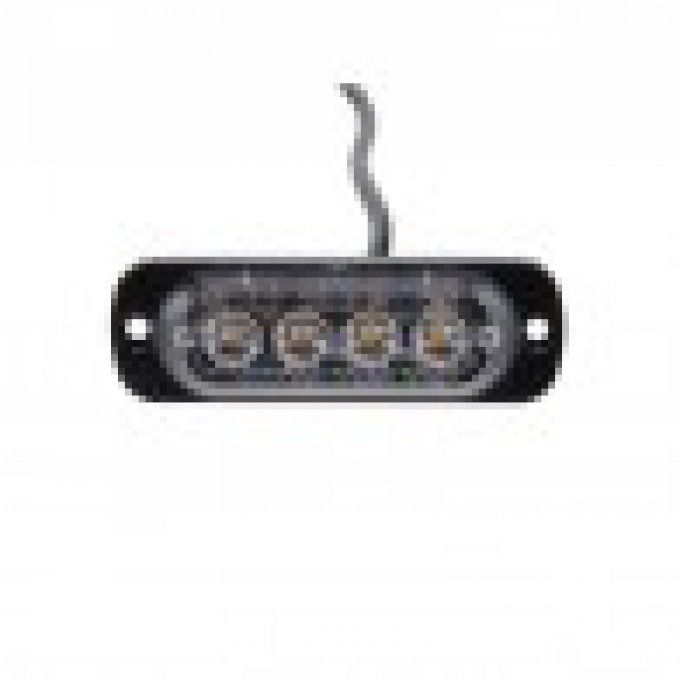feu flash 4 led light 12-24 volt