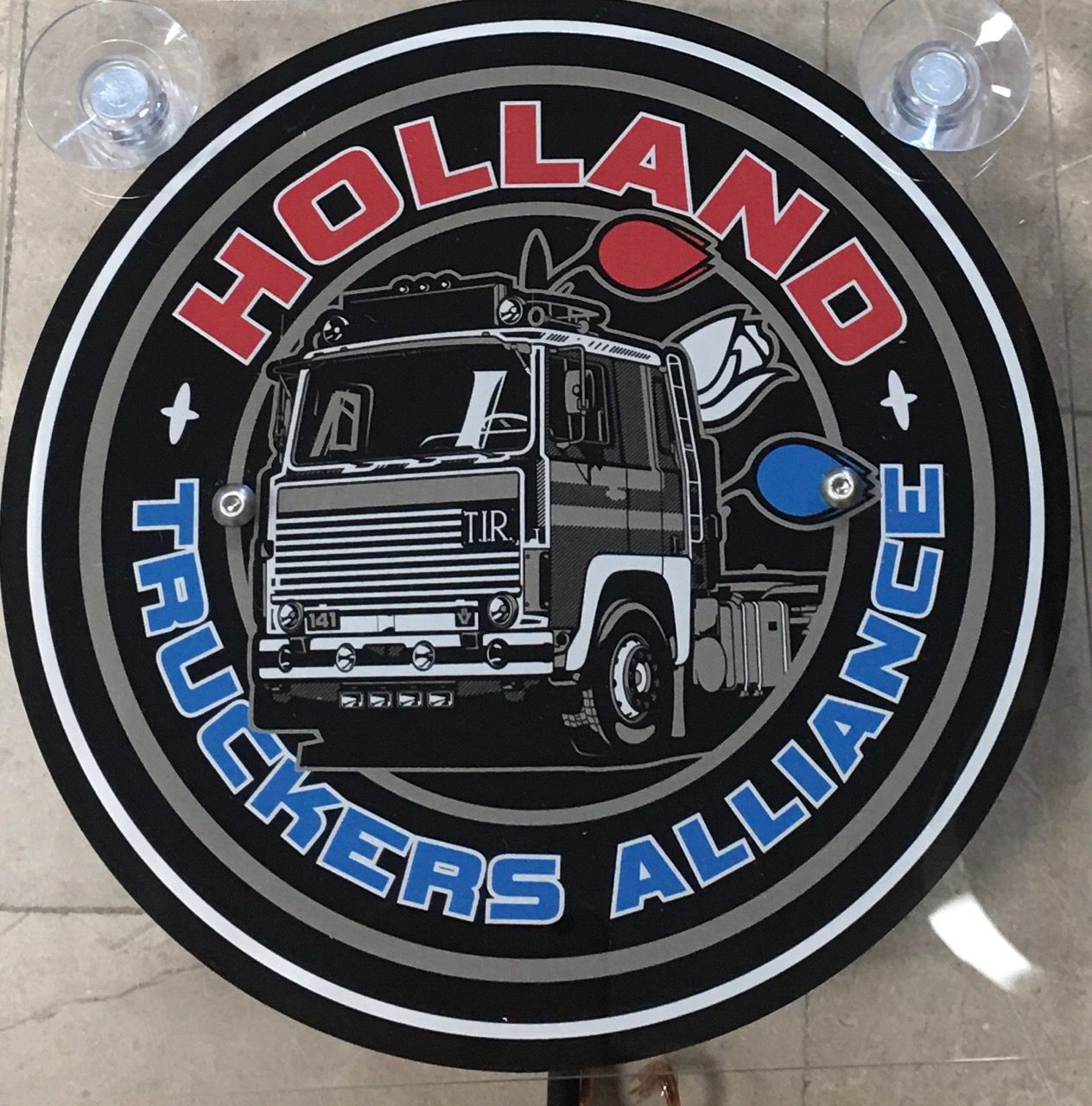 Plaque lumineuse luxe holland truckers alliance 18X18CM