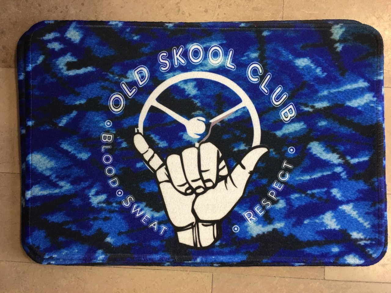 Tapis de sol 60X40CM OLD SKOOL CLUB BLEU